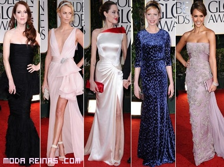 Los mejores vestidos de los Globos de Oro 2012