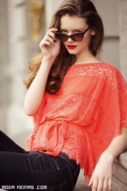 Blusas elegantes en colores