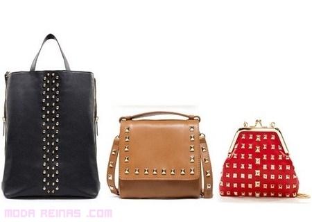 Bolsos con tachuelas de Zara