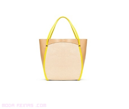 Bolsos con asas en color amarillo
