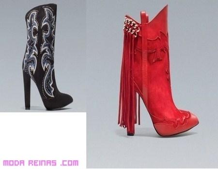 Botas Zara llenas de tachuelas y moda