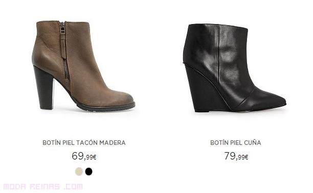 botines de piel a la moda