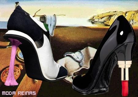 Tacones de moda al estilo surrealista