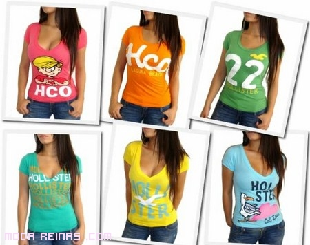 Camisetas Hollister de moda