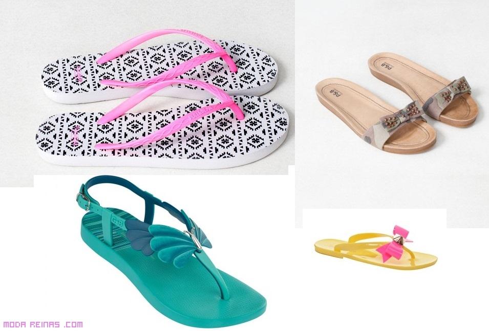 Chancletas de colores a la moda