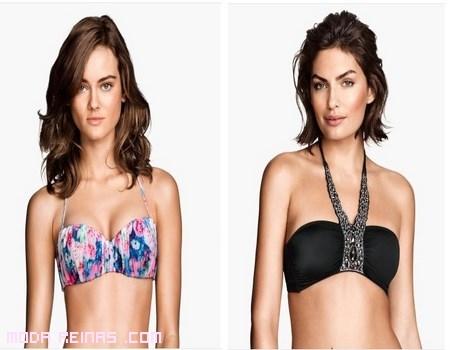 Sujetadores de bikinis modernos