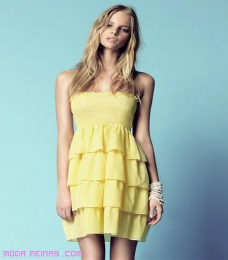 vestidos amarillos de moda