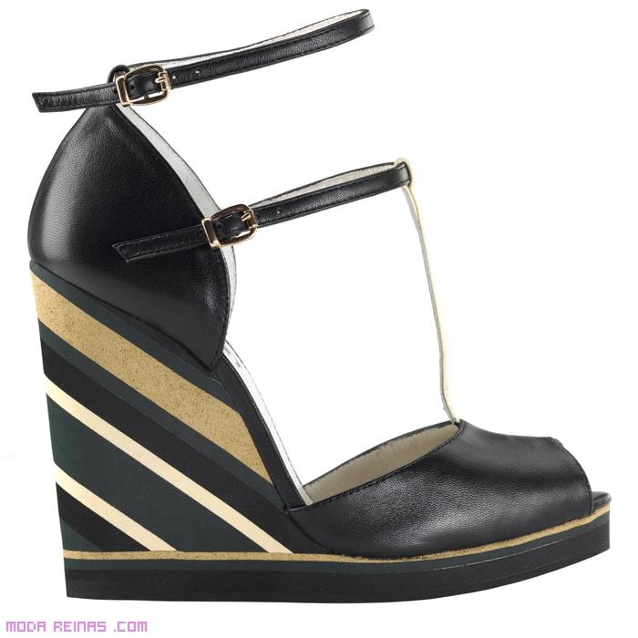 sandalias con doble tira de moda