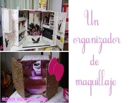 Cómo hacer un organizador de maquillaje