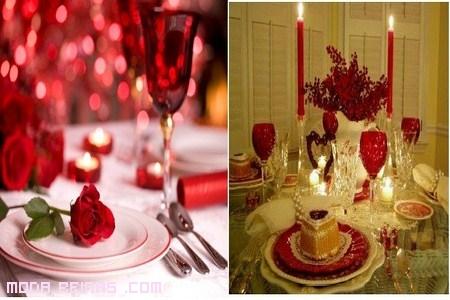 Decoración de mesa romántica