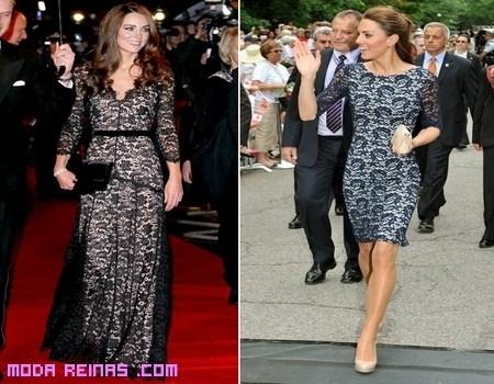 Dos vestidos de encaje de Kate Middleton