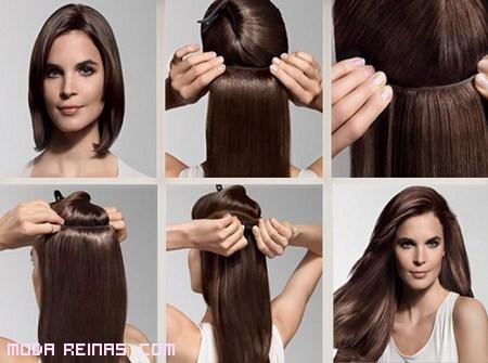 Peinados faciles con extensiones de clip