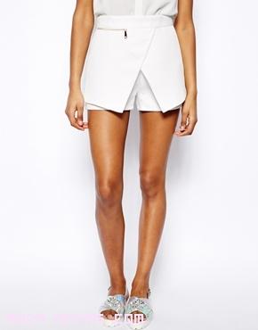 falda pantalón en color blanco