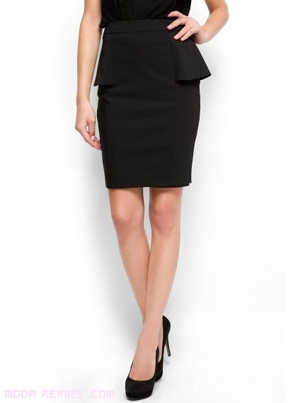 Faldas con peplum moderno