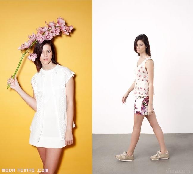 Faldas y camisetas con estampado floral