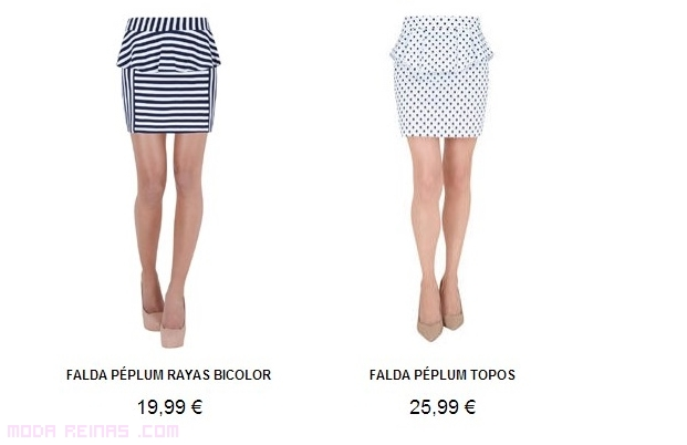 Faldas de moda con rayas