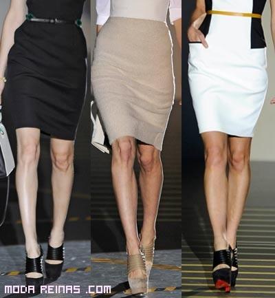 faldas tubo con cinturones