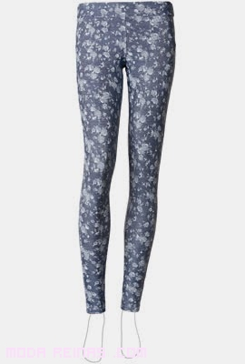 Leggings estampados en color azul