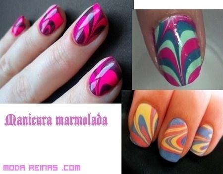 Manicura al agua, color en tus uñas