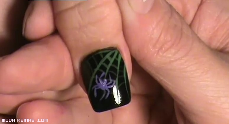 dibujos de arañas para uñas