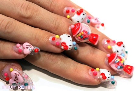 Manicure-de-hello-kitty