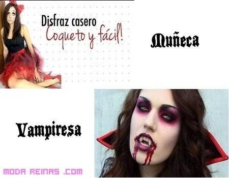 Dos maquillajes, terroríficos, para Halloween