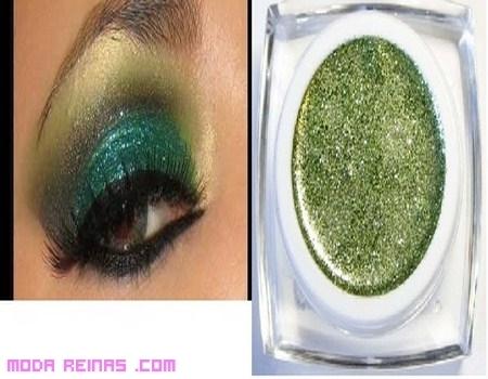 Maquillaje con glitter para brillar en las fiestas