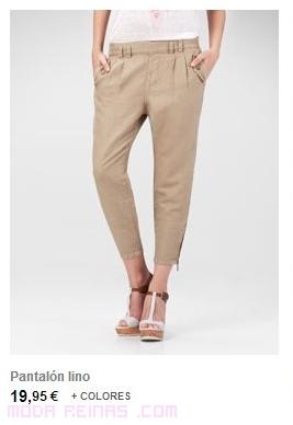 pantalones de tela en colores