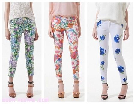 Pantalones floreados...una elección de moda y colorido
