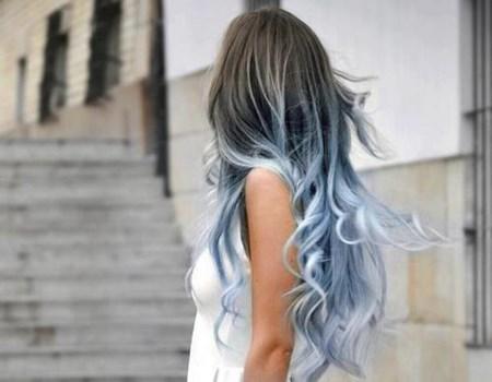 Pelo largo con colores de moda