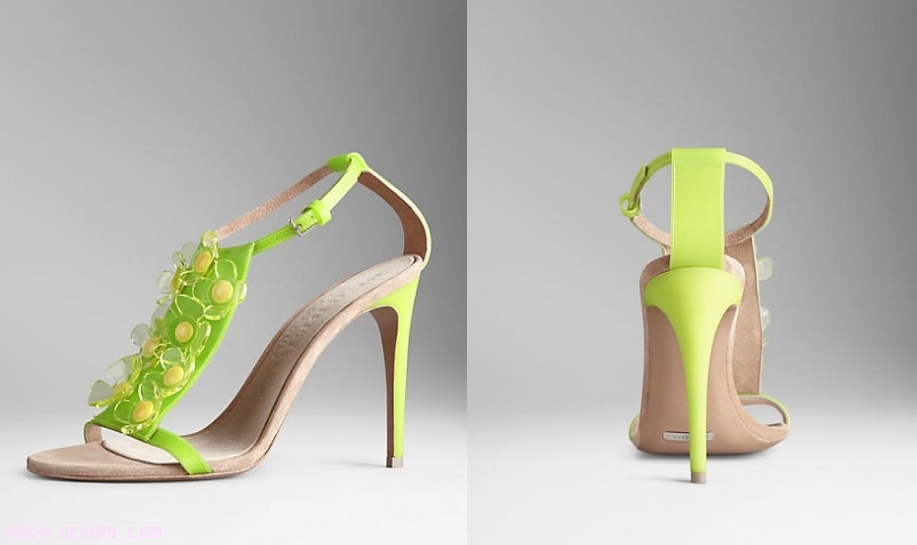 Sandalias verde lima