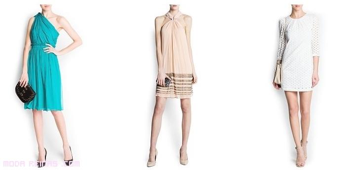 vestidos asimétricos con faldas plisadas