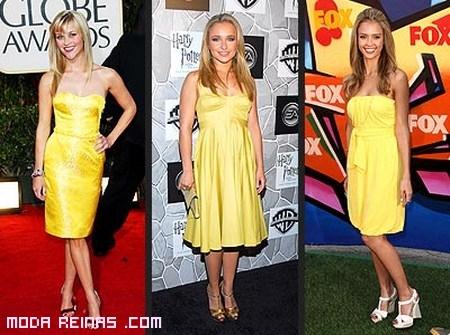 Famosas vestidas de color amarillo