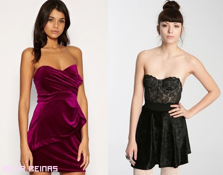 Vestidos de terciopelo a la moda 2010