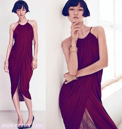 vestidos con abertura delantera