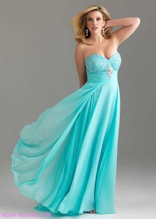 vestidos largos con escote corazón