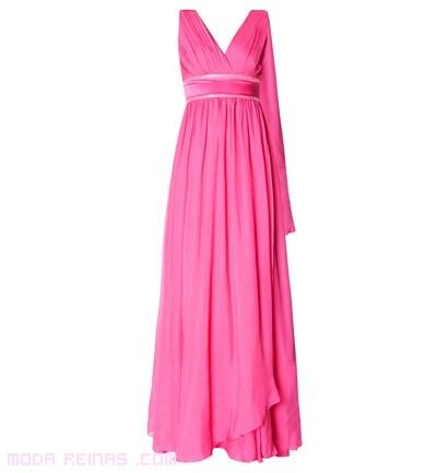 Vestidos plisados en rosa