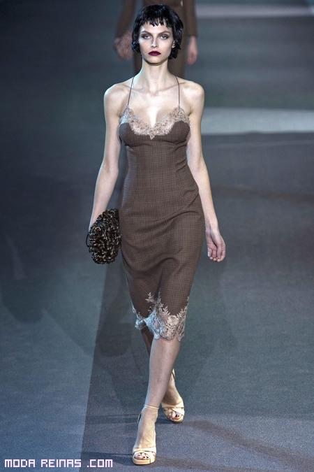 vestidos lenceros en marrón