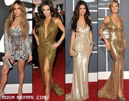 Vestidos metálicos, una opción de moda