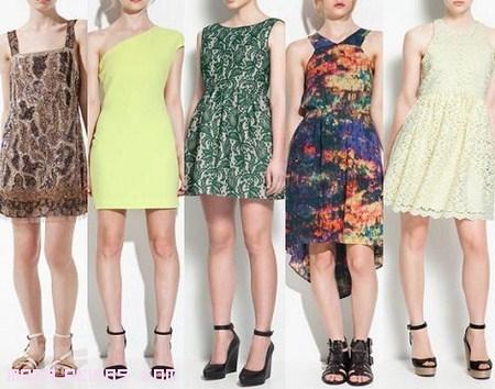 vestidos asimétricos y estampados