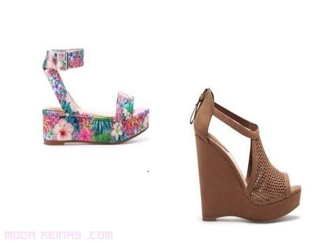 sandalias estampadas de moda