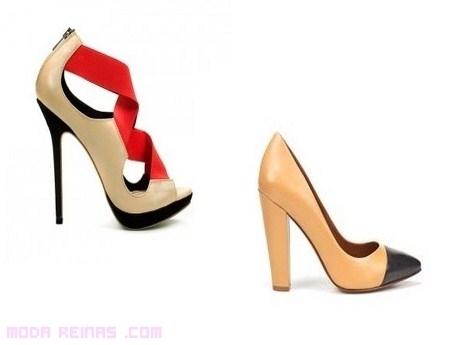 Zapatos bicolor de moda