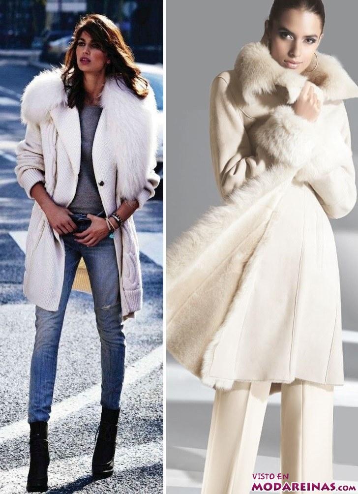 Abrigos de lana blancos