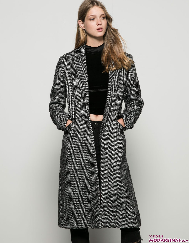 abrigos de paño bershka