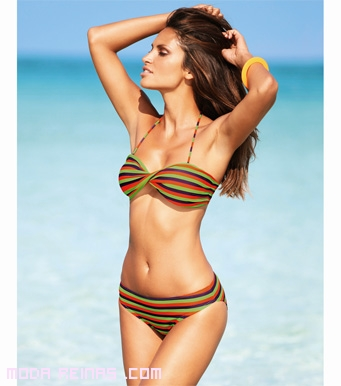 bikinis de corte triangular