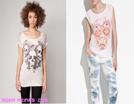 Camisetas con calaveras