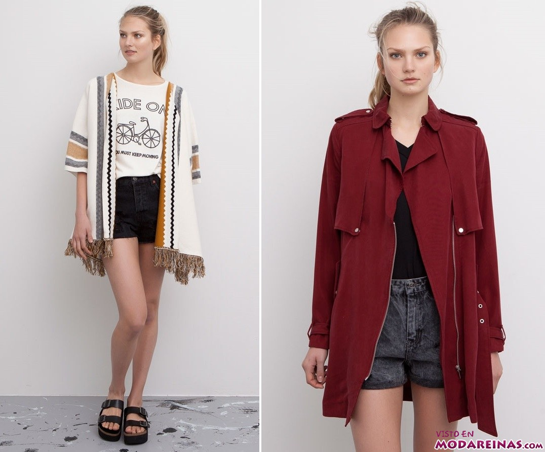 capas y trench de pull and bear