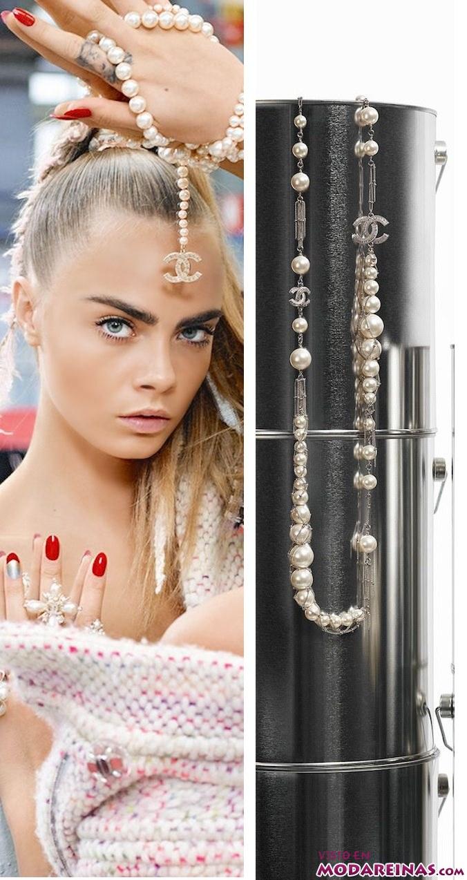 collares de perlas chanel