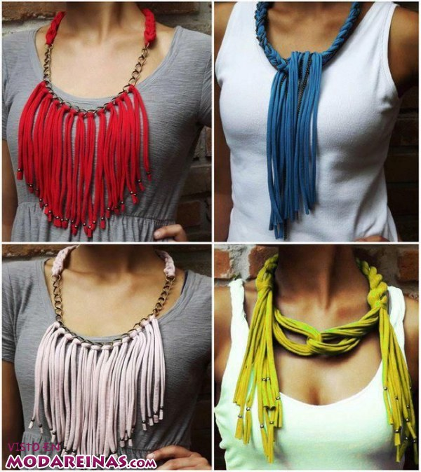 Crea tus collares de moda con trapillo