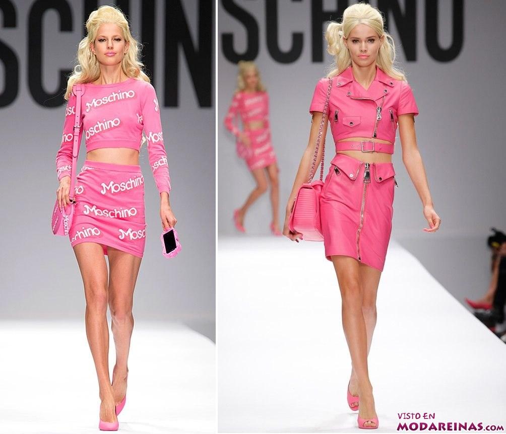 conjuntos en rosa de Moschino